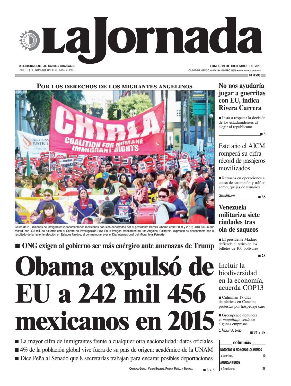 La Jornada, 12/19/2016 by La Jornada: DEMOS Desarrollo de Medios ...