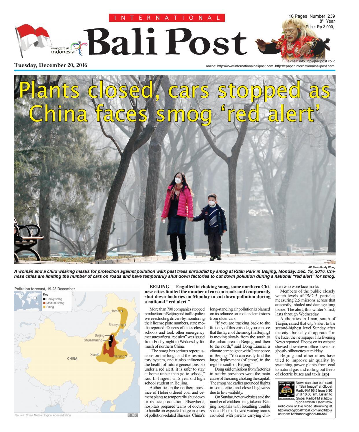 Edisi 20 Desember 2016 Internasional Bali Post By E Paper Kmb Issuu
