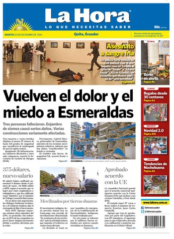 7fdecb0ea604 Quito 20 de diciembre de 2016 by Diario La Hora Ecuador - issuu