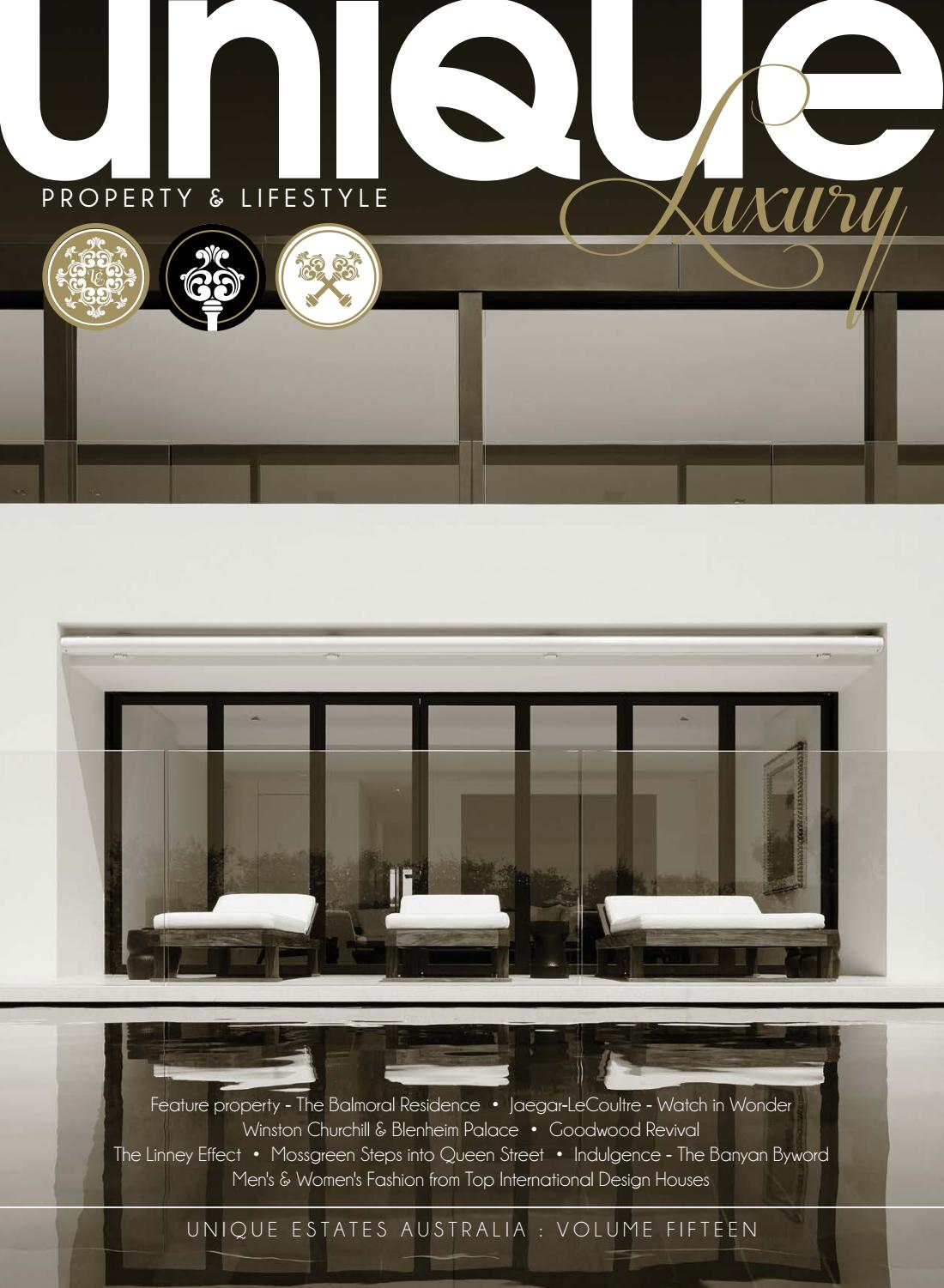 d0fa1023314465 Unique Luxury Volume 15 by Unique Estates Australia - issuu