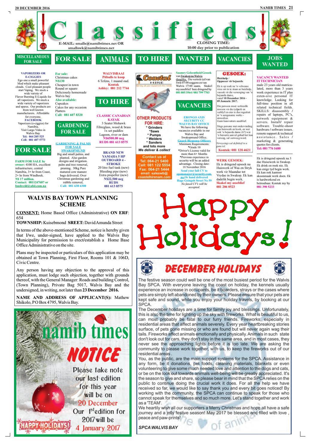 20 december namib times e edition by Namib Times Virtual - issuu