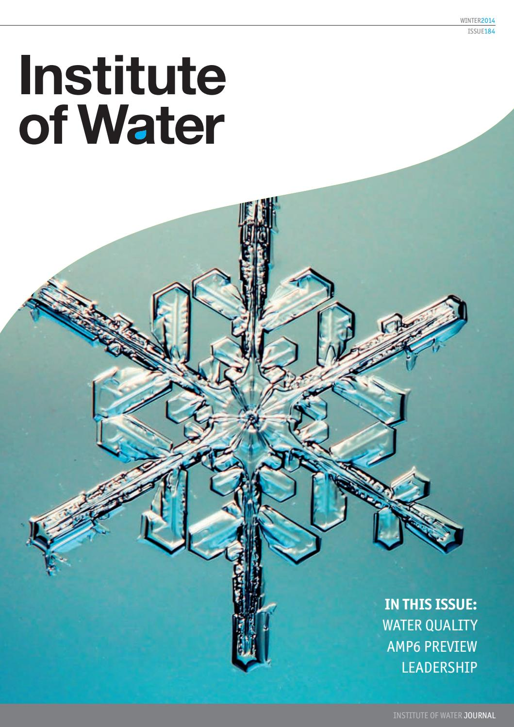 Institute of Water Magazine - Winter Edition 2014 by Institute of ...