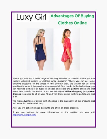 Advantages Of Buying Clothes Online by Luxy Girl - issuu
