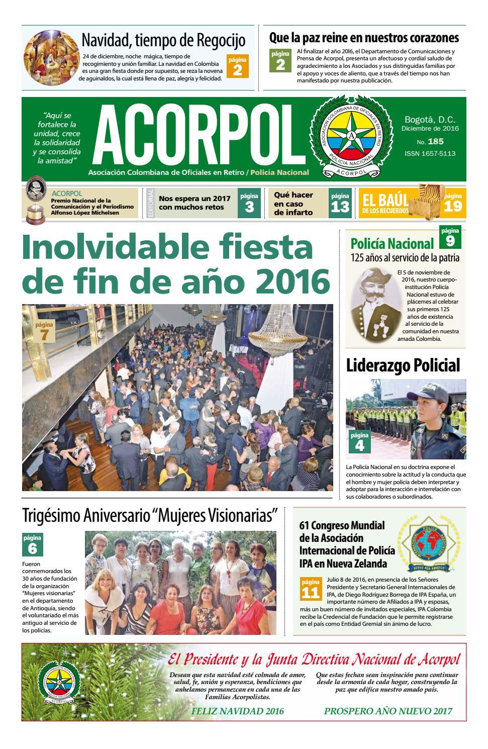 Edici N 185 Diciembre 2016 By Acorpol Asociaci N Colombiana De  # Muebles Roldan Tulua