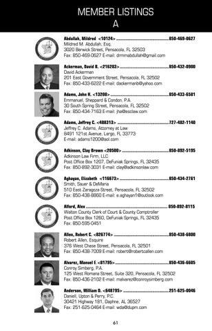 Member Listings A Abdullah Mildred 10124850 469 0627 M Esq 3020 Berwick Street