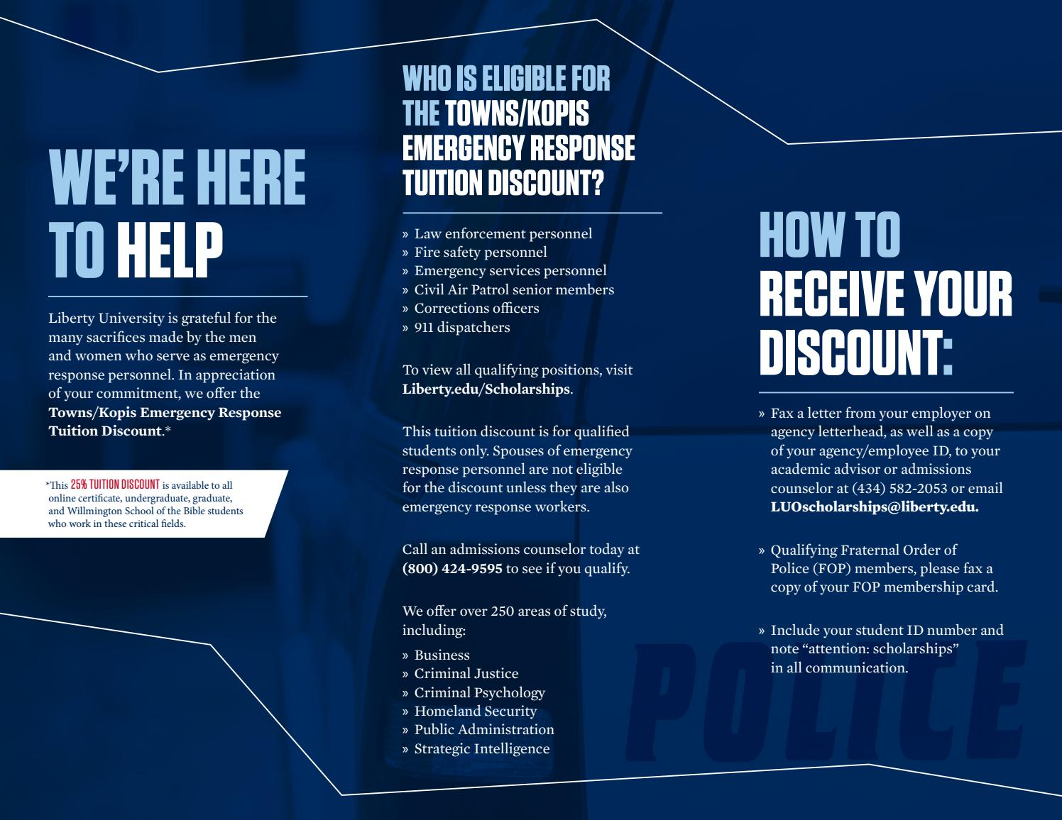 Emergency Response Personnel Brochure By Liberty University   Issuu