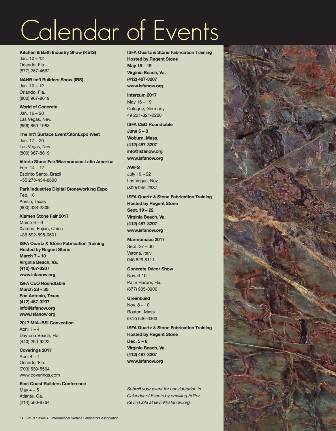 ISFA's Countertops & Architectural Surfaces Vol  9, Issue 4