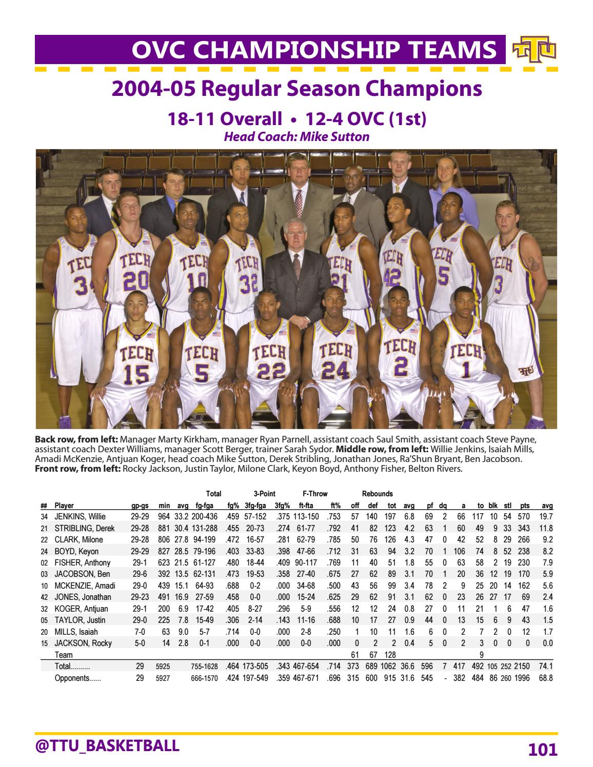 2016 17 Tennessee Tech Men S Basketball Guide By Tennessee Tech Sports Information Issuu