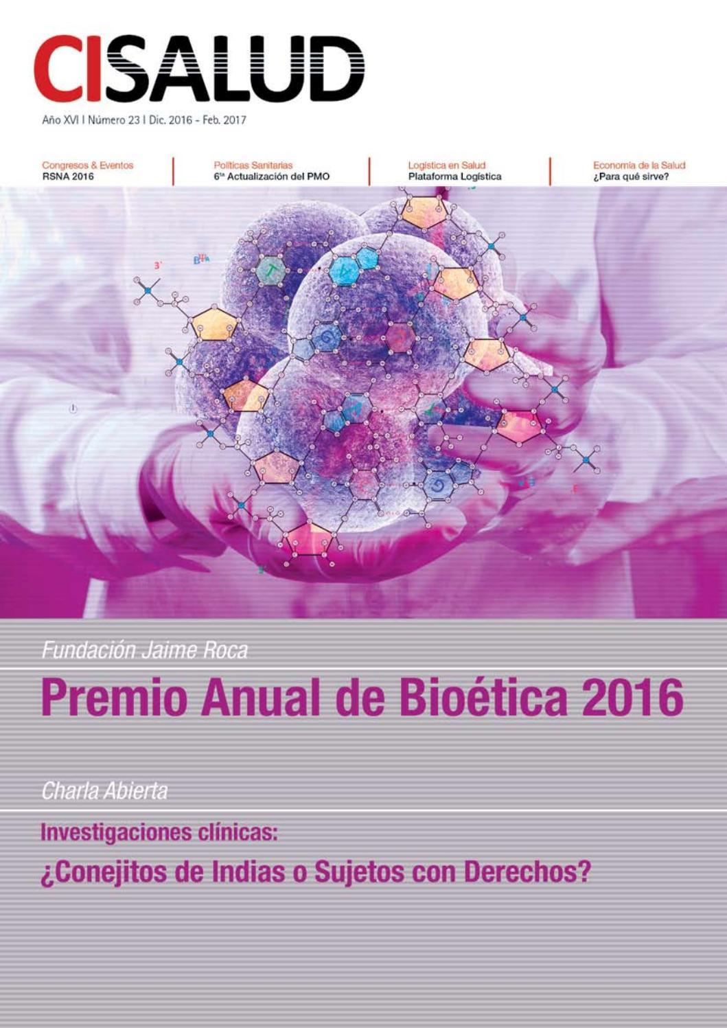 N° 23 / Diciembre 2016 - Febrero 2017 by Revista CISALUD on line - issuu