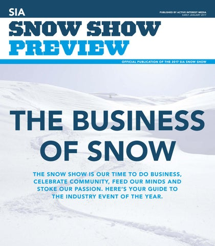 Snow Show Preview 2017 by Active Interest Media-Boulder - issuu 843277127