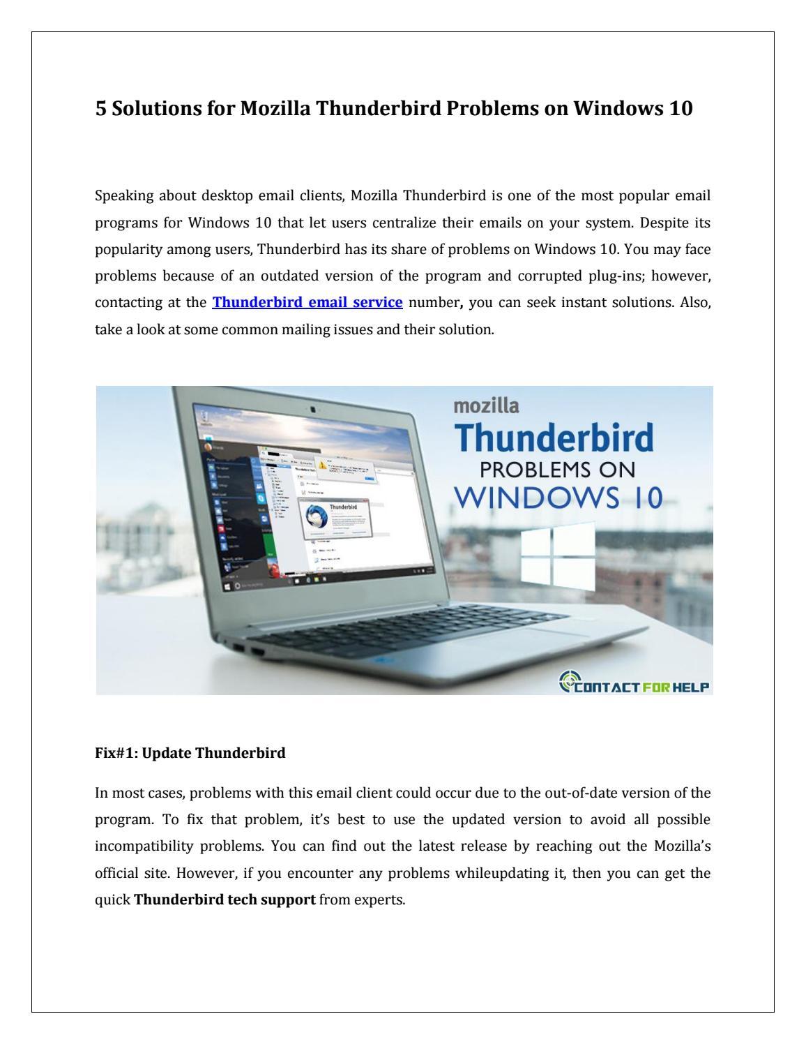 Mozilla Thunderbird problems on Windows 10 by Lisa Heydon - issuu