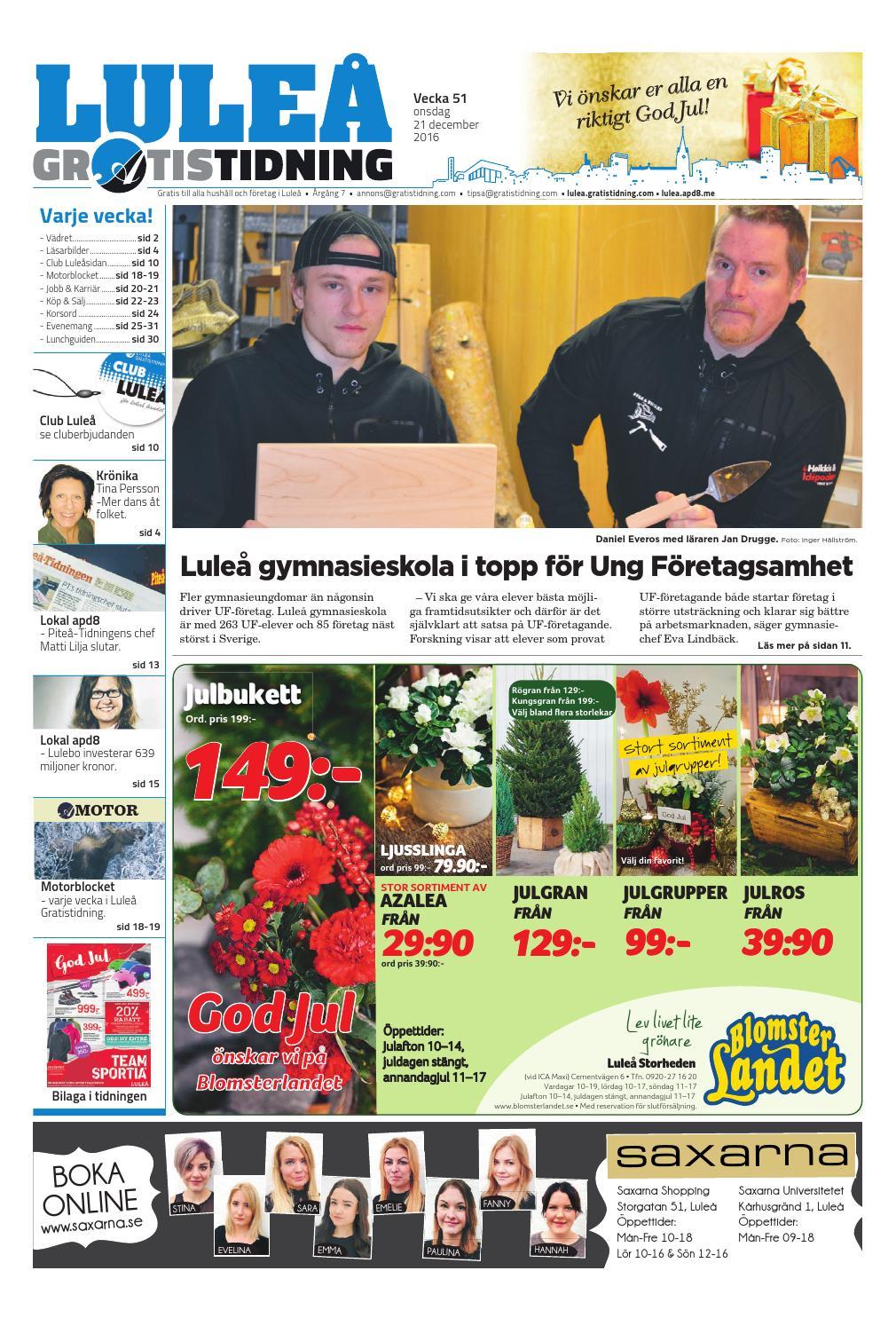huge discount ade24 48e3a Luleå Gratistidning med Team Sportia bilaga by Svenska Civildatalogerna AB  - issuu