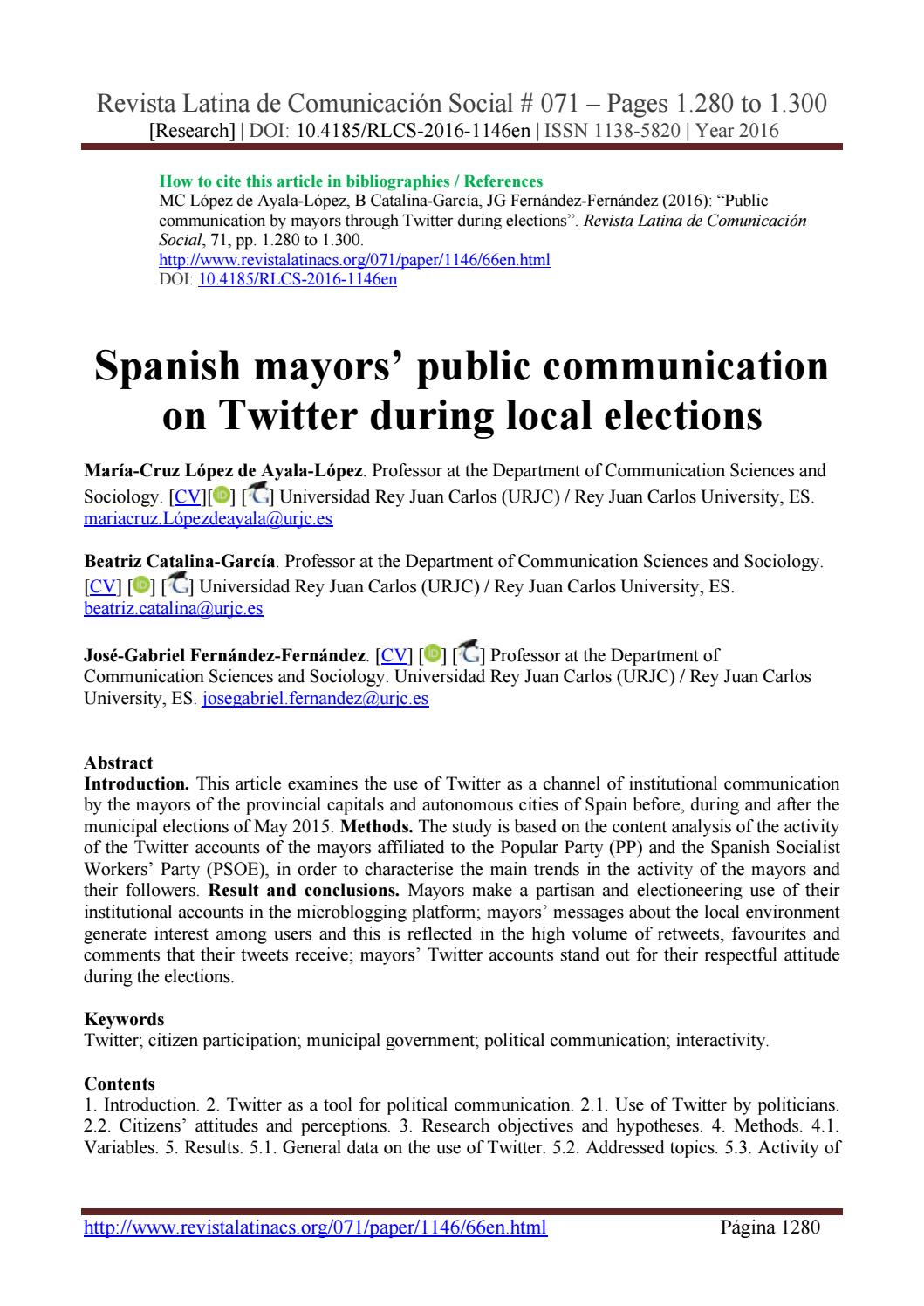 political communication research topics