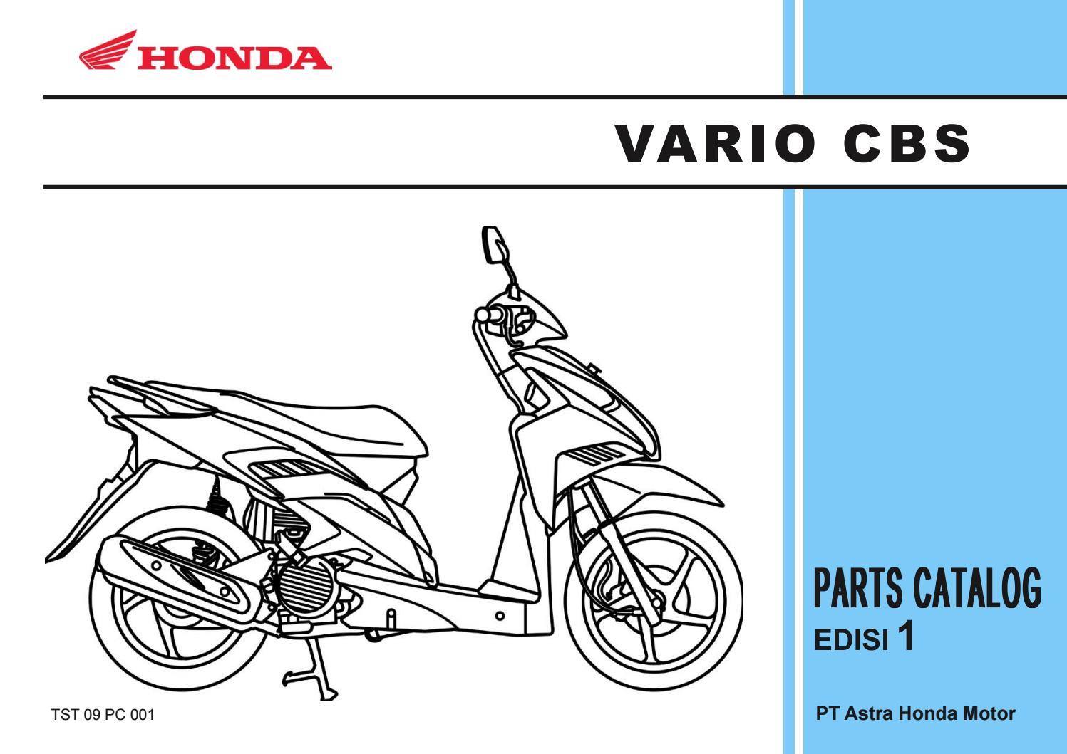 Part Catalog Honda Vario By Ahass Tunasjaya Issuu Emblem Body 150 Set Techno 110 Cbs