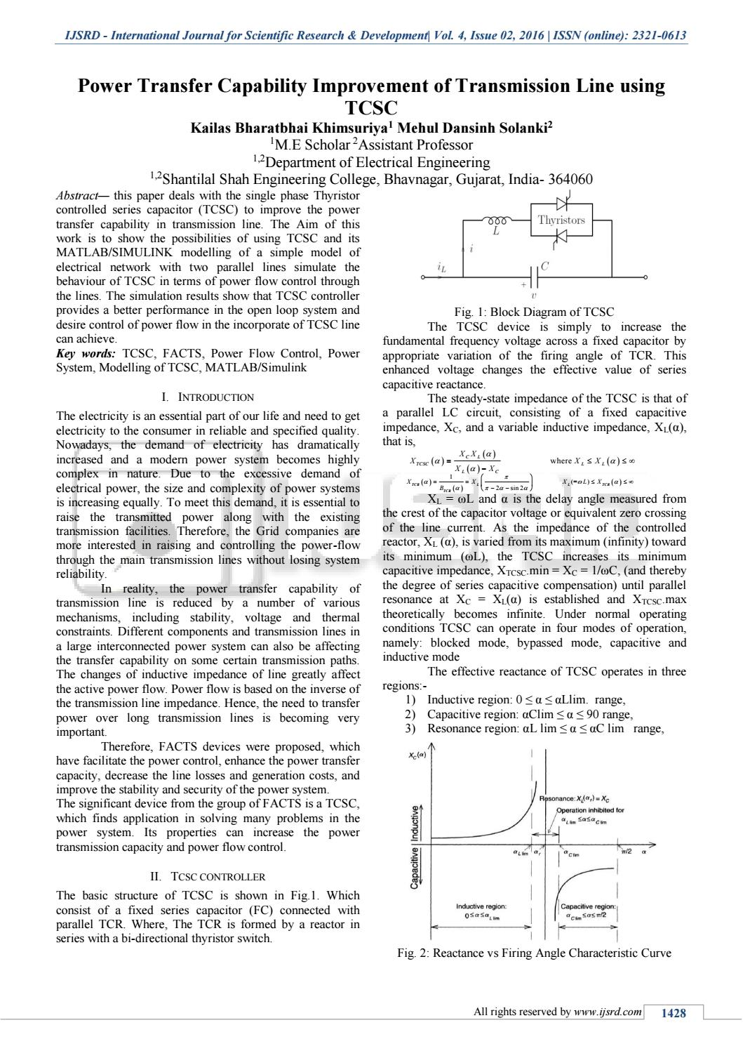 A Study to Improve the Power Quality of Transmission Line ...