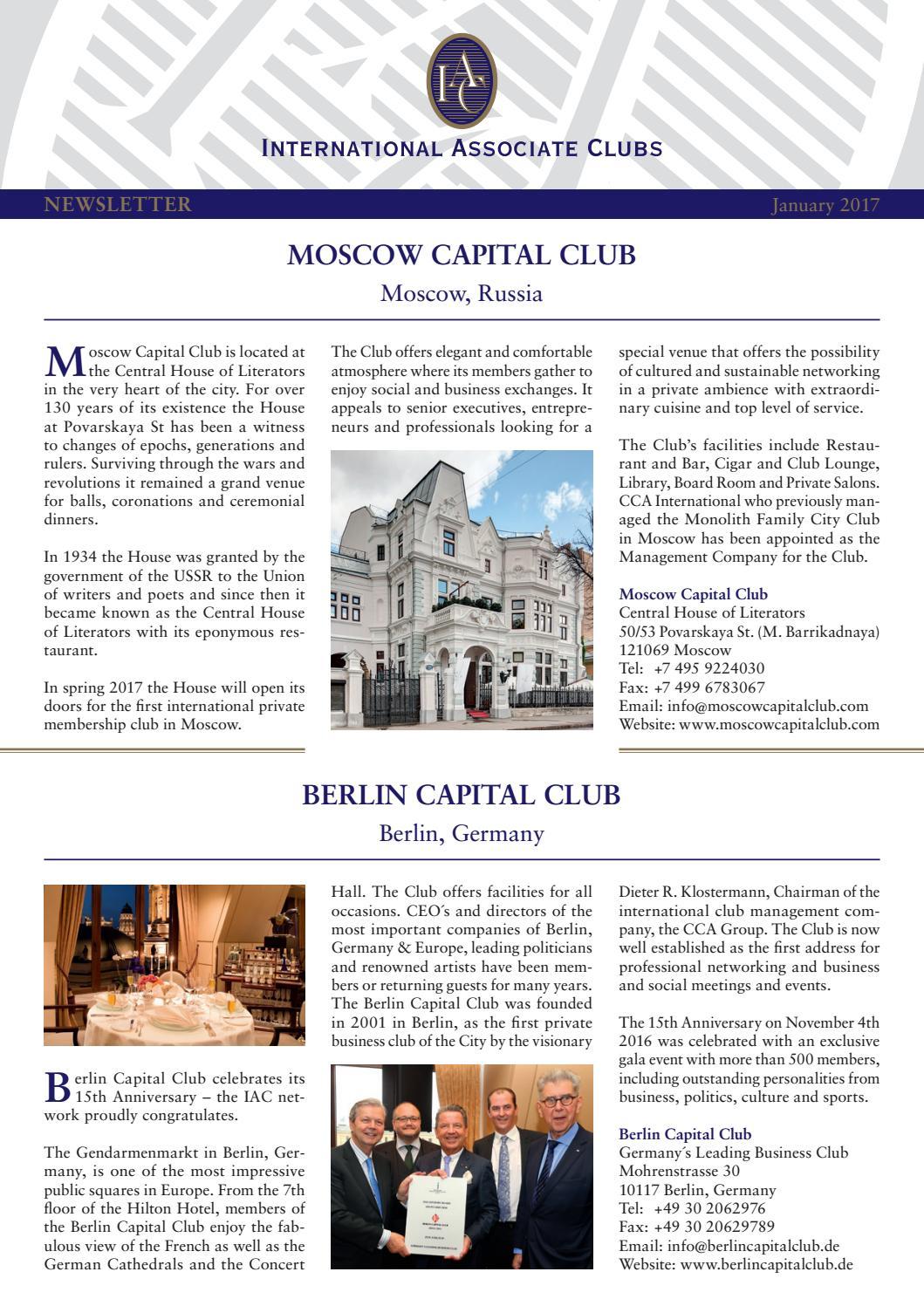 IAC Newsletter Januar 2017