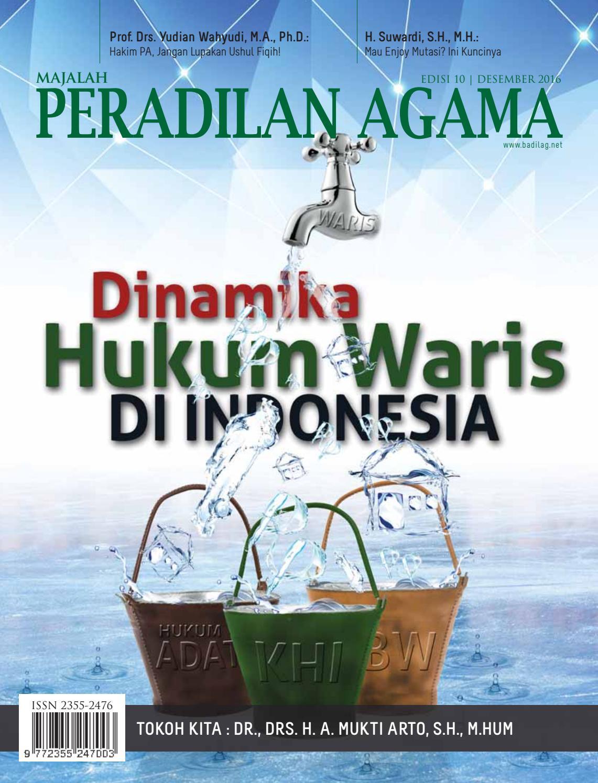 Majalah Peradilan Agama, Edisi 10 | Desember 2016 by
