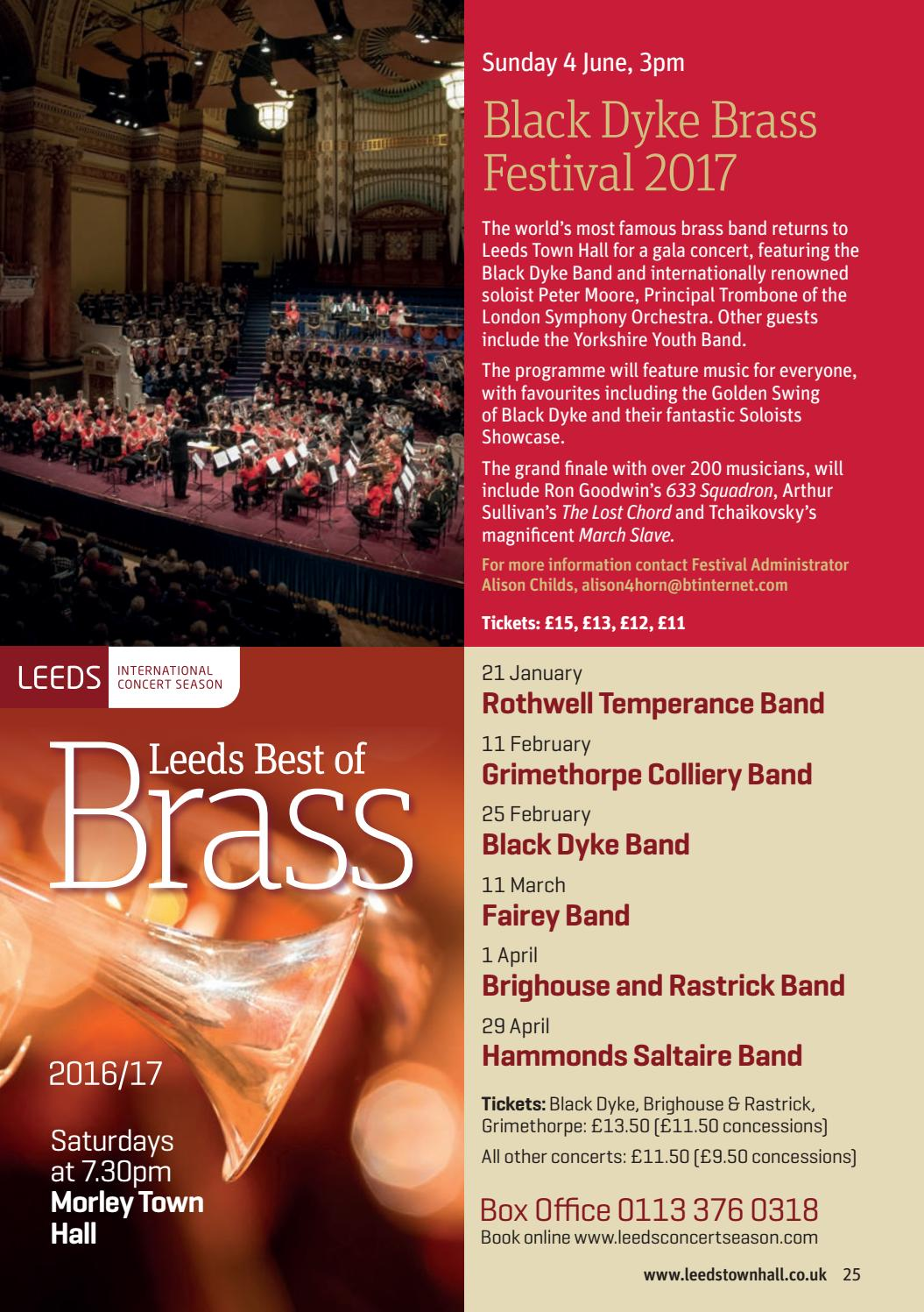 What's On at Leeds Town Hall January - August 2017 by Leeds