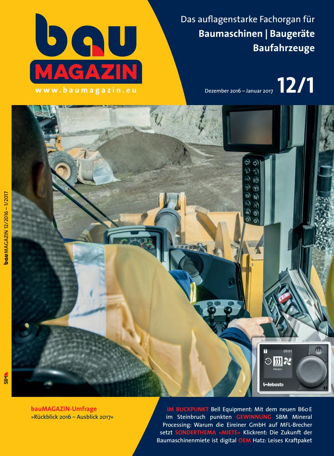 Baumagazin Dez 2016 / Jan. 2017 by SBM Verlag GmbH - issuu
