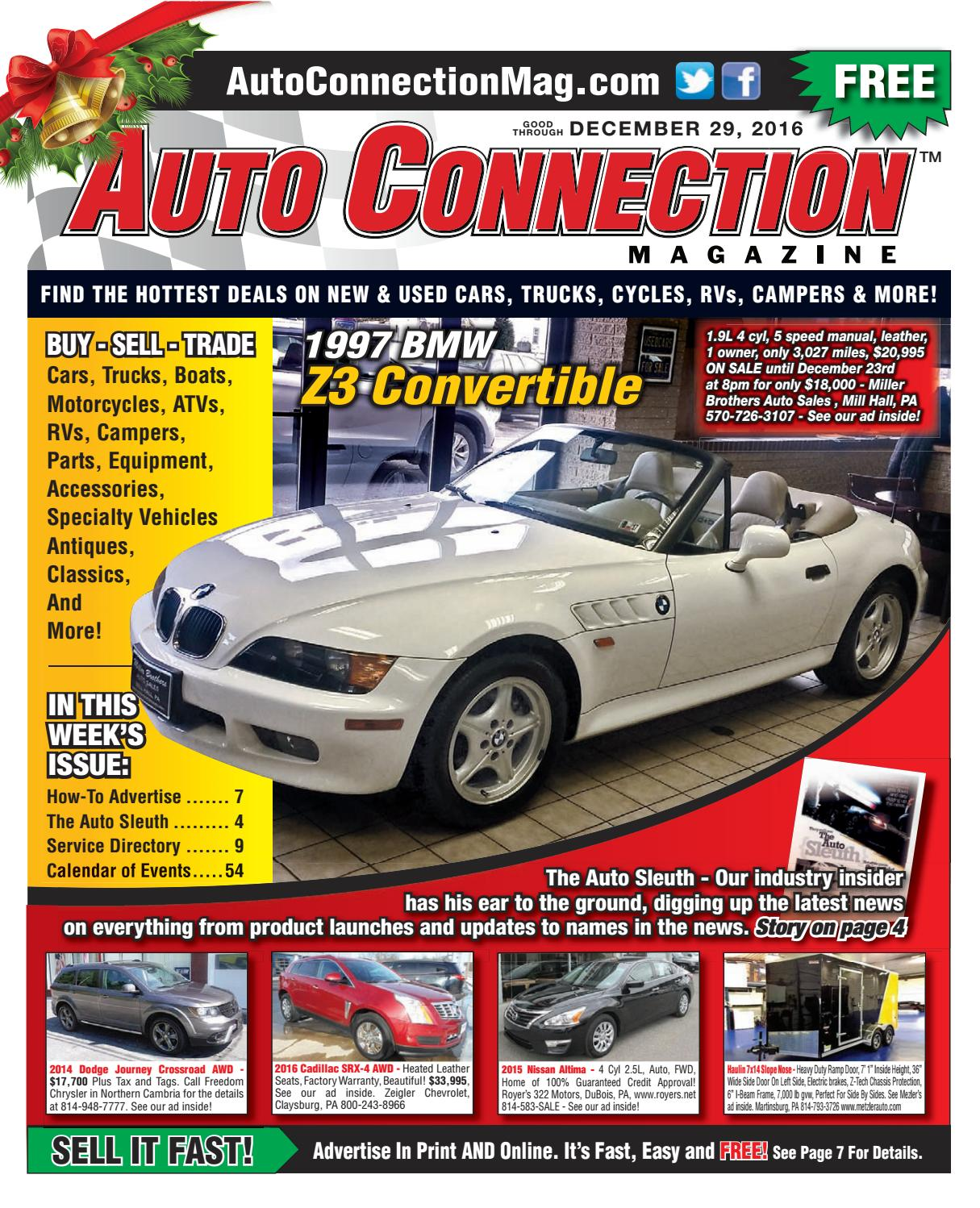 12-29-16 Auto Connection Magazine by Auto Connection Magazine - issuu