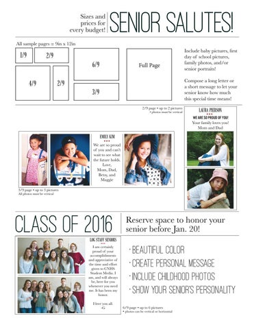 2017 Log Yearbook Senior Salute Contract by cnhsmedia - issuu