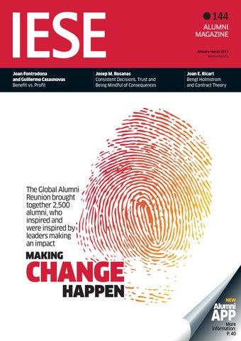 IESE Alumni Magazine  Num  144 by IESE Business School - issuu