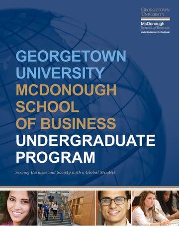 Undergraduate Program Admissions Viewbook by Georgetown ...