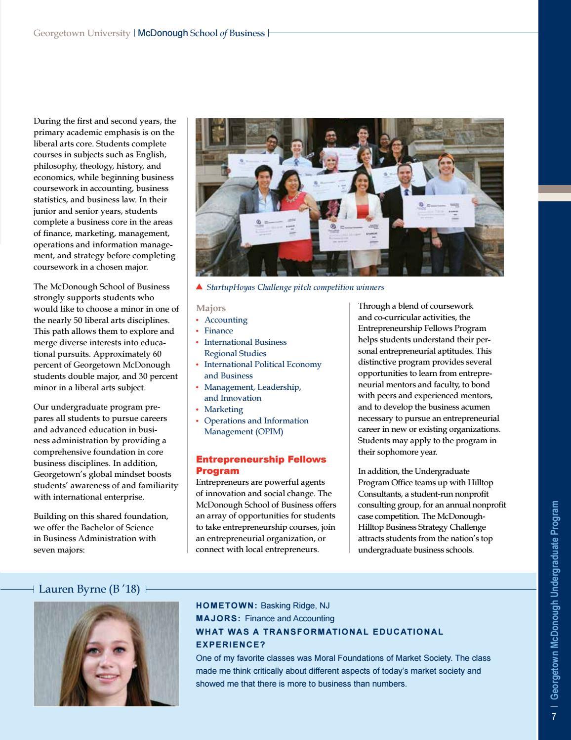 Undergraduate Program Admissions Viewbook by Georgetown