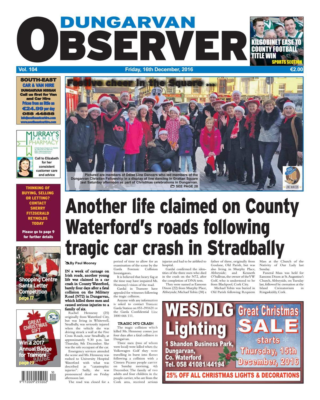 Dungarvan observer 15 9 2017 edition by Dungarvan
