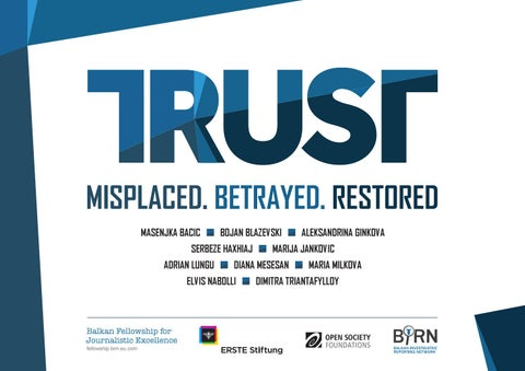 TRUST - Misplaced  Betrayed  Restored  Balkan fellowship for