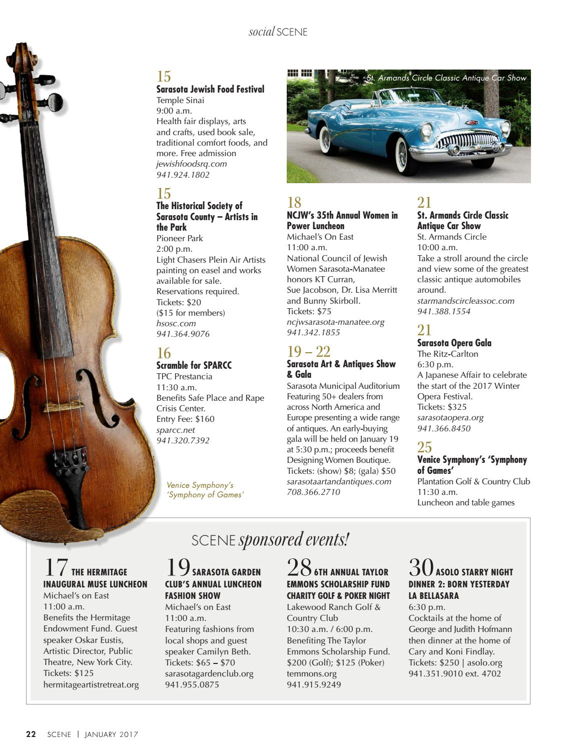 January By SARASOTA SCENE Magazine Issuu - Lakewood ranch classic car show