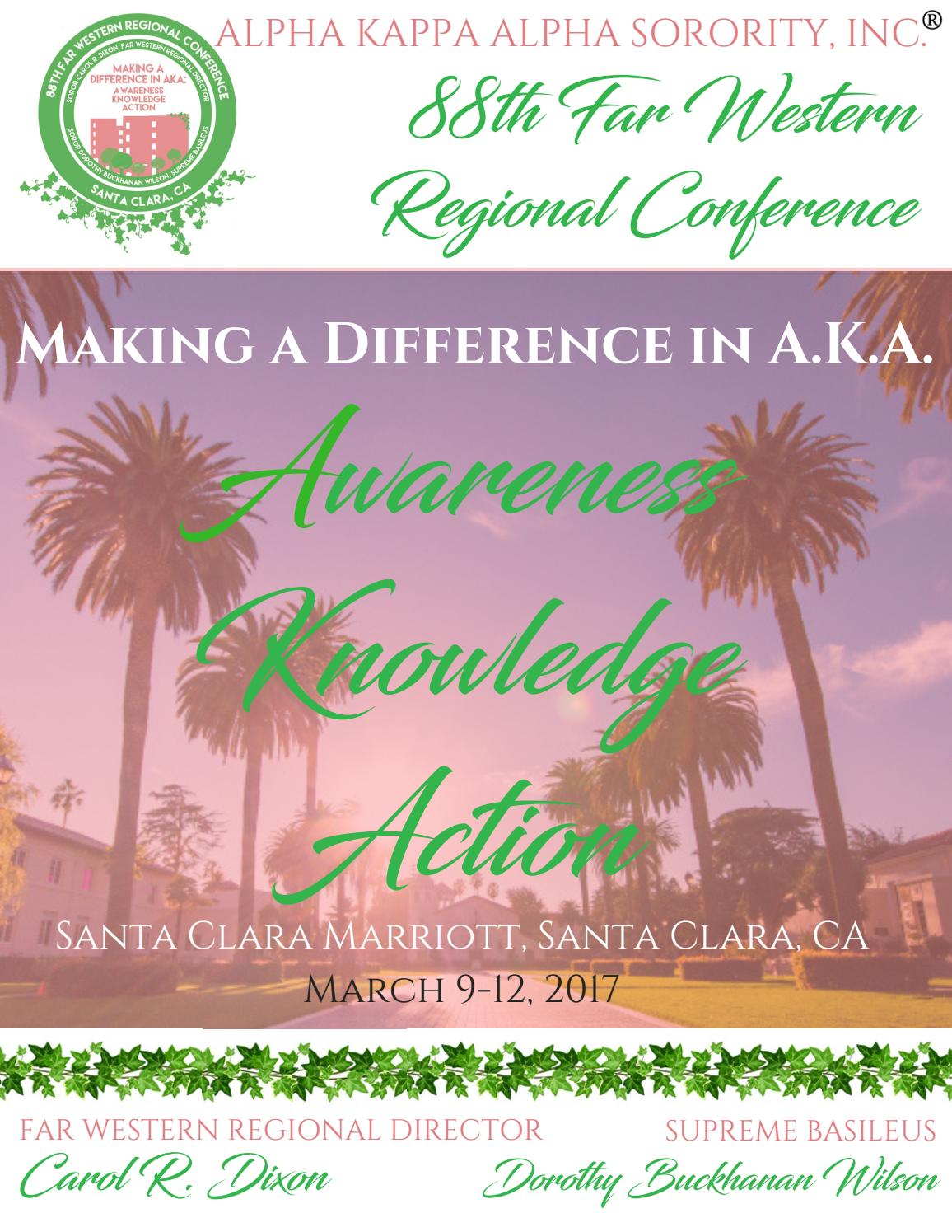 88th Far Western Regional Conference Registration Packet by AKA ...