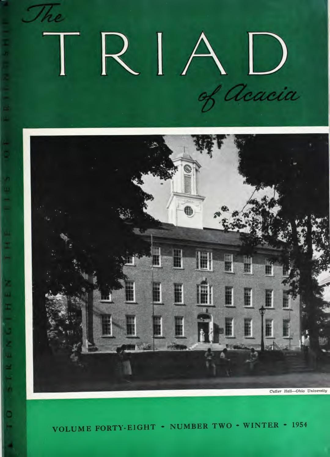 3242b950f3 Acacia triad vol 48 no 2 winter 1954 by Acacia Fraternity - issuu
