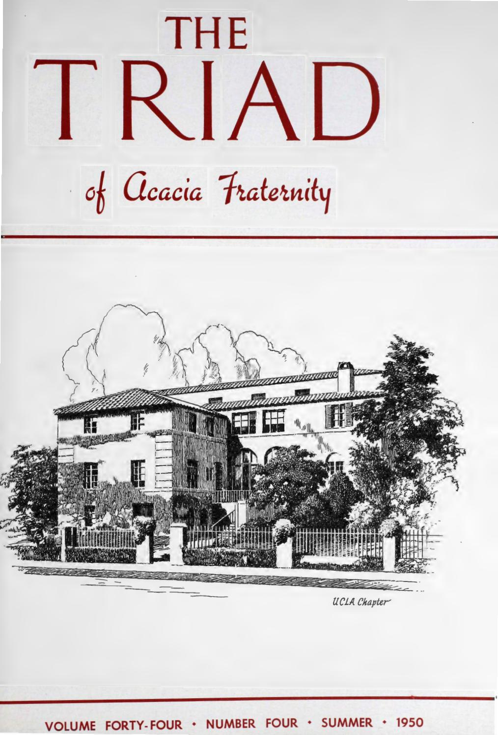 28643b02c3 Acacia triad vol 44 no 4 summer 1950 by Acacia Fraternity - issuu