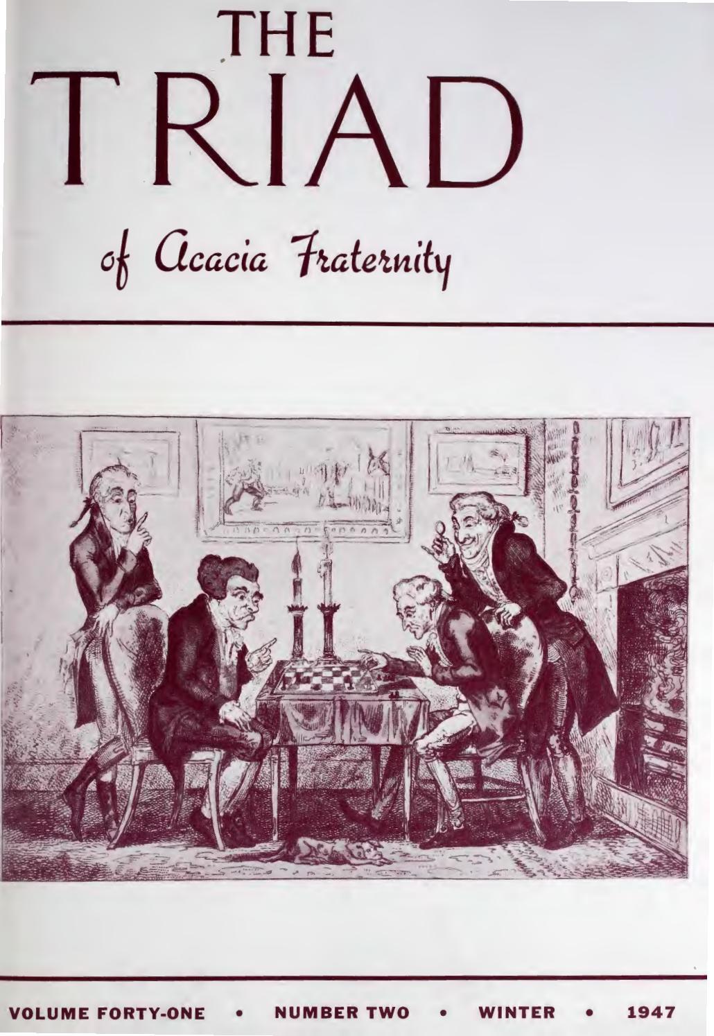 Acacia triad vol 41 no 2 winter 1947 by Acacia Fraternity - issuu 8ef210b1f19