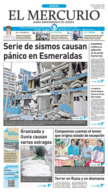 hemeroteca 20-12-2016 by Diario El Mercurio Cuenca - issuu 789cb79bac4