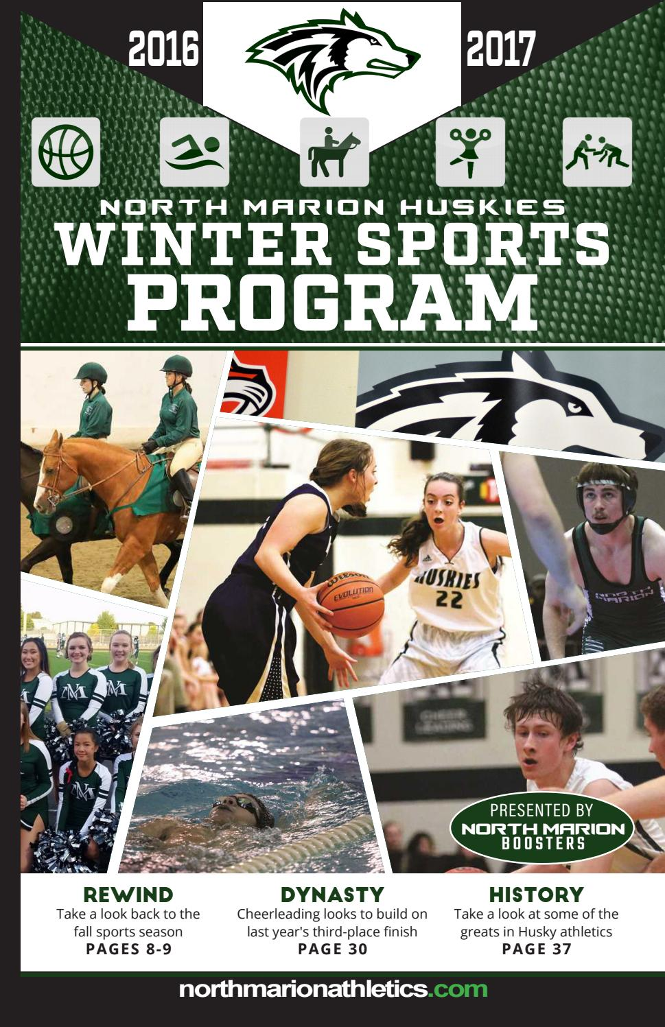 Hu huskies athletics - 2016 17 North Marion Winter Sports Program By North Marion Boosters Issuu