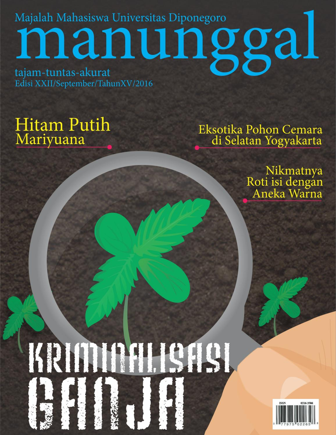 Majalah Manunggal Edisi XXII September Tahun XV 2016 By LPM