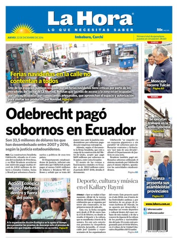 45e881f0ee4 Imbabura Carchi 22 de diciembre 2016 by Diario La Hora Ecuador - issuu
