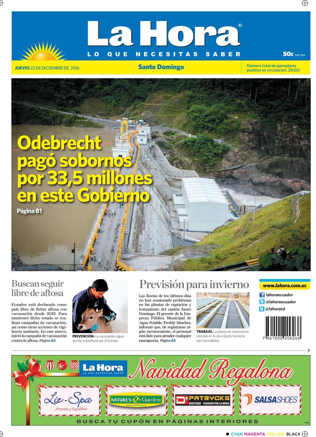 Santo Domingo 27 de diciembre 2016 by Diario La Hora Ecuador - issuu