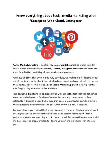 Know Everything About Social Media Marketing With Enterprise Web