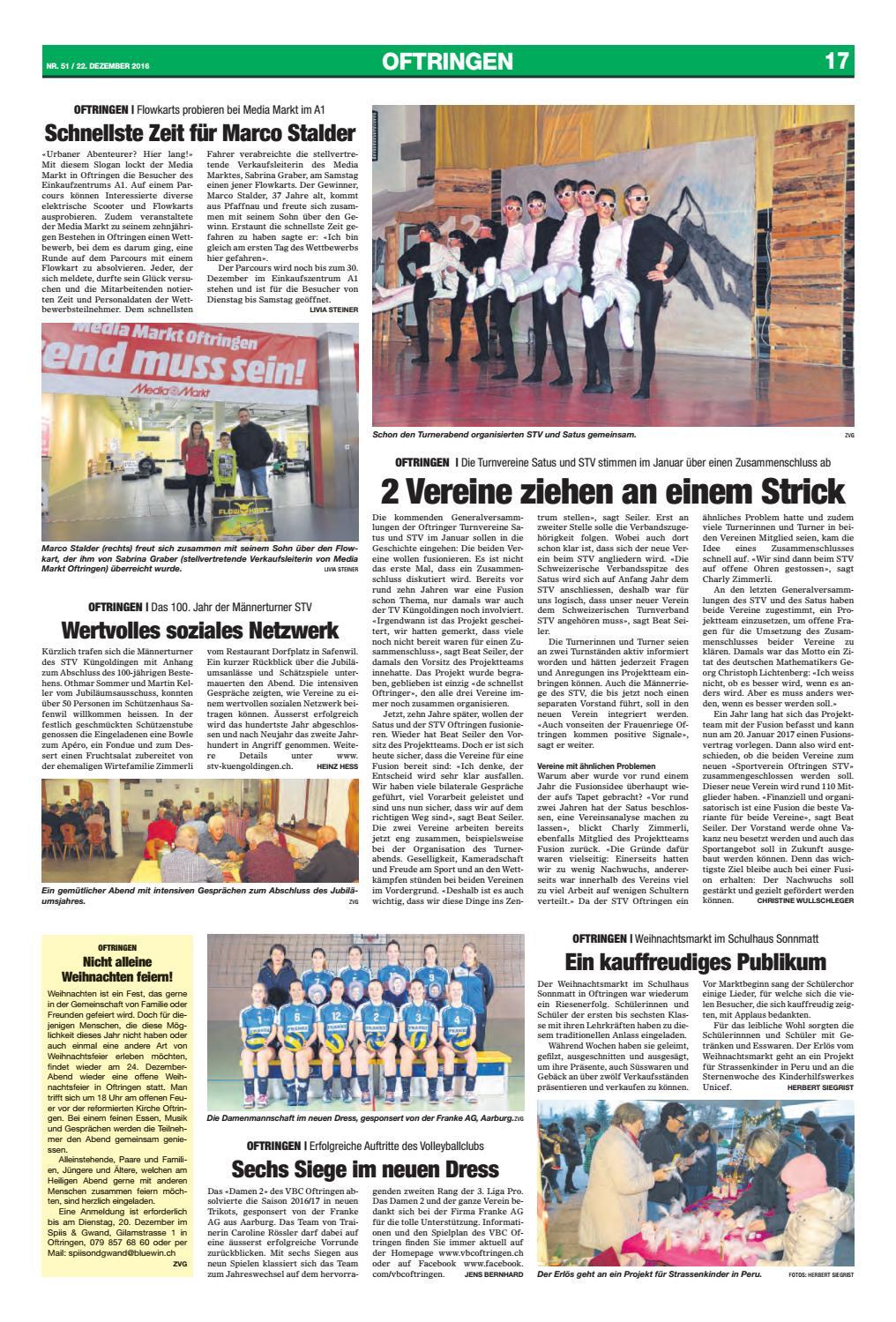 Media Markt Weihnachtsfeier.Wiggertaler 51 16 By Zt Medien Ag Issuu