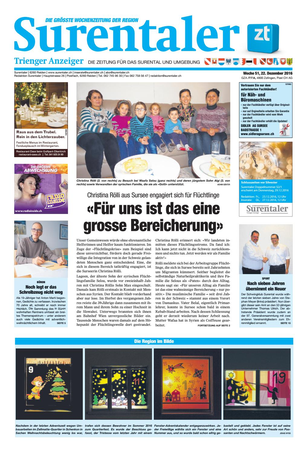 Surentaler 51/16 By ZT Medien AG   Issuu
