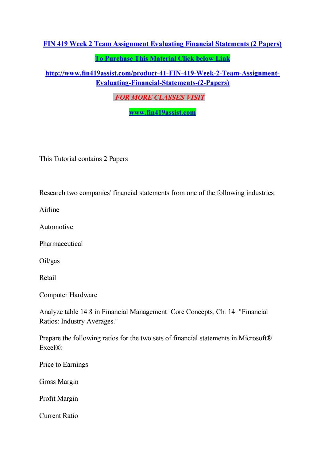 Financial statements Essays and Research Papers | examples.essaytoday.biz