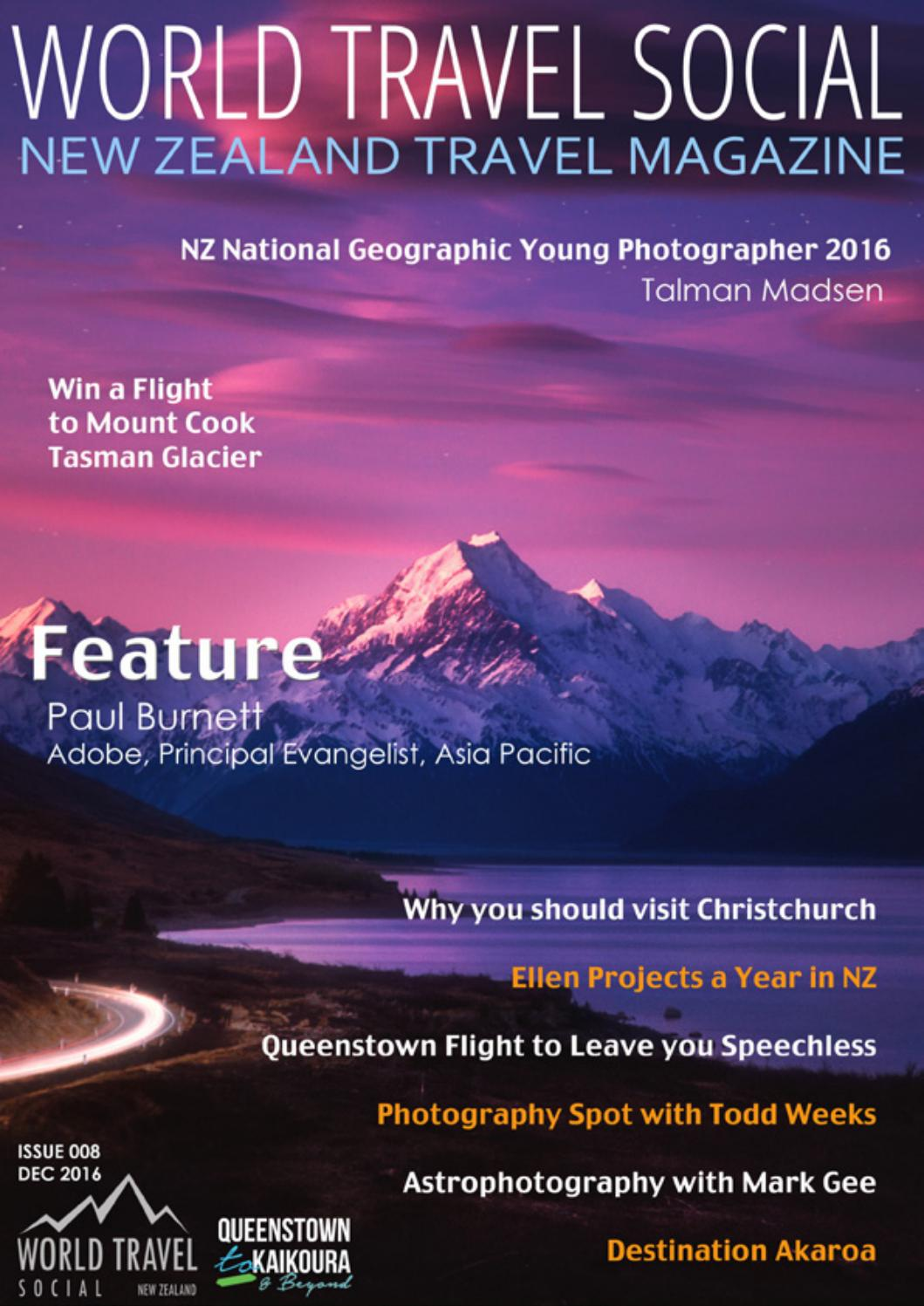 Travel Magazine New Zealand Featuring Queenstown To