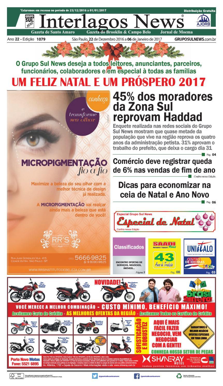 Edição - 1079 - 22 de Dezembro de 2016 a 06 de Janeiro de 2017 by Grupo Sul  News - issuu c509237e0ce85