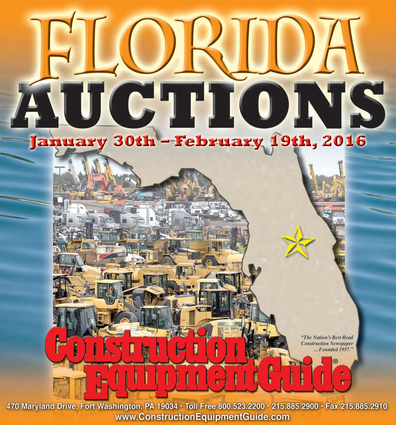 Florida Auctions 2016 by Construction Equipment Guide - issuu