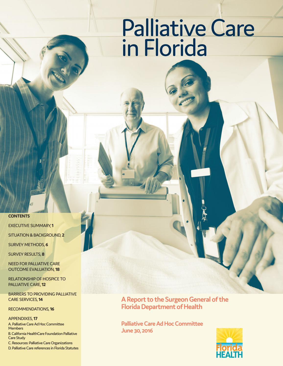 Palliative Care in Florida, 2016 by Florida Department of Health - issuu