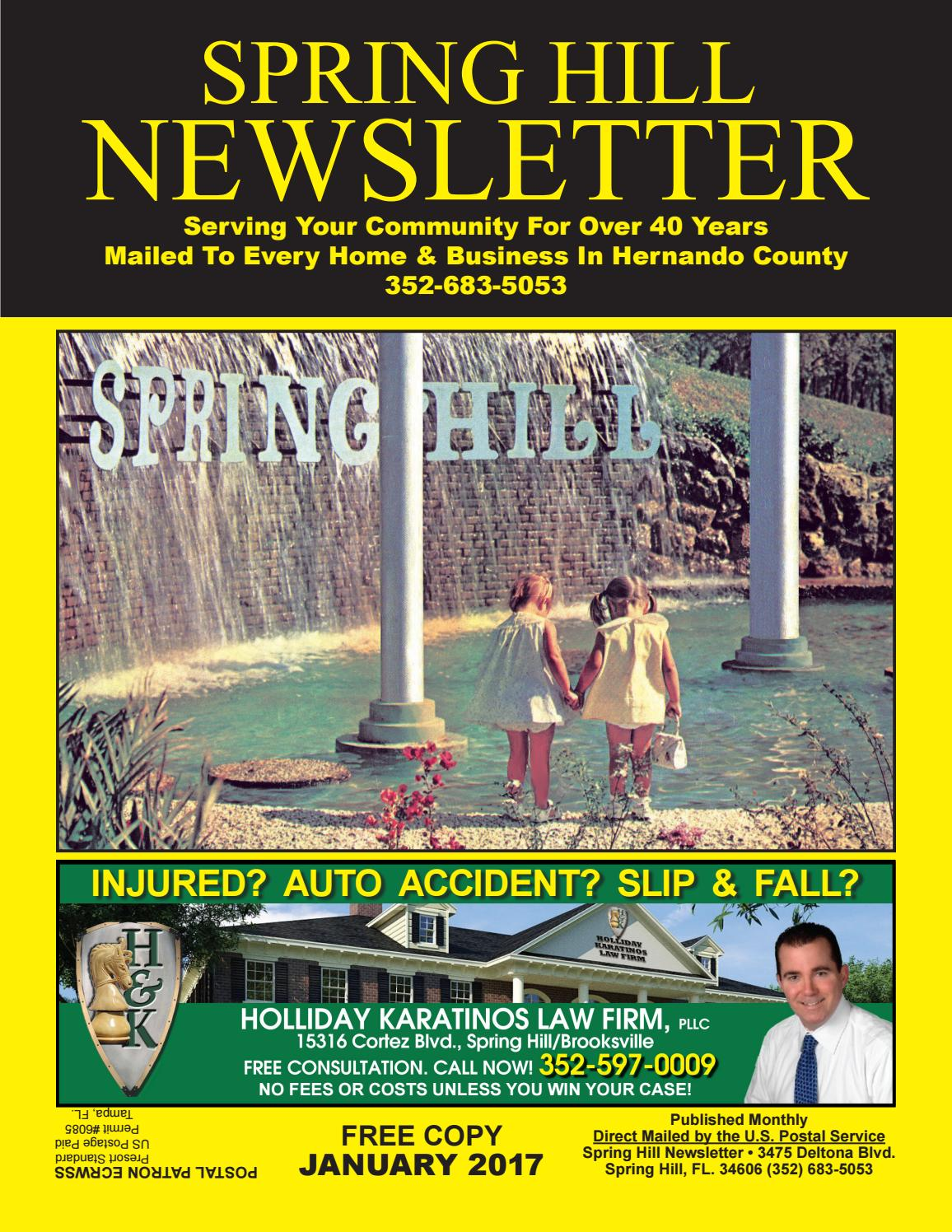 January 2017 Spring Hill Newsletter By Spring Hill