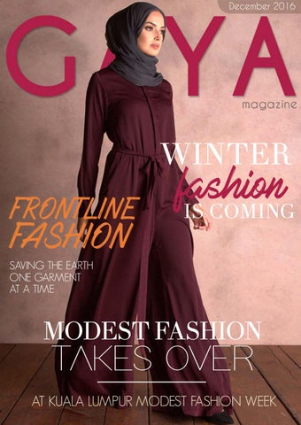 b980da8860 Gaya Magazine December 2016 - Hijab   Modest Fashion for today s ...